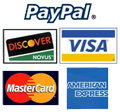 CLS Graphics accepts PayPal and these credit cards