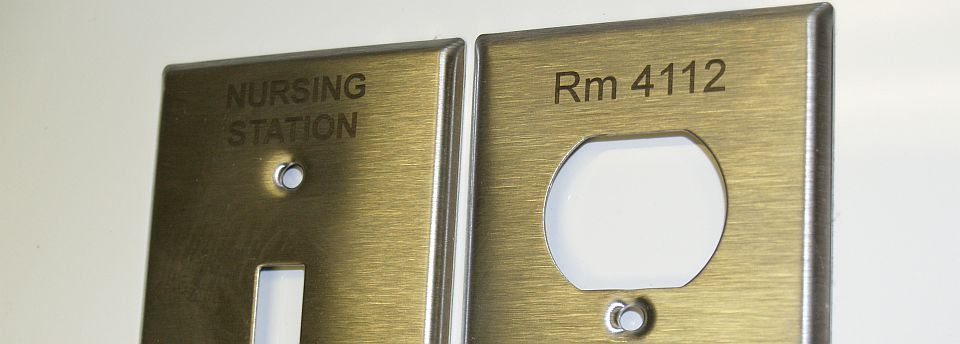 Laser Engraved Metal Switch and Outlet Plates