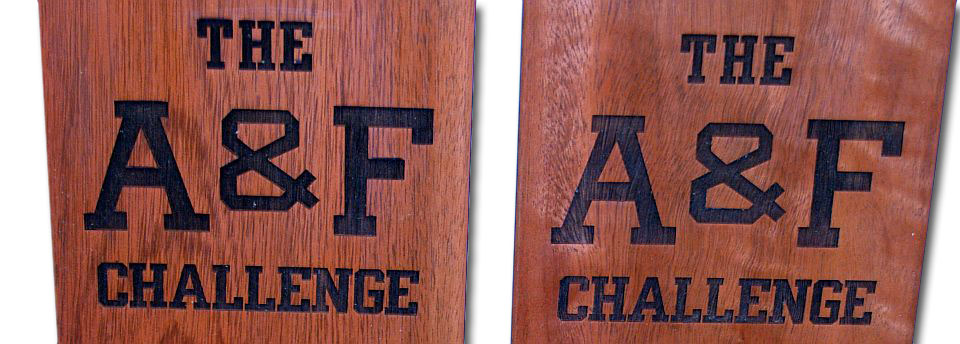 Laser Engraved Wooden Paddle Awards